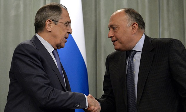 Egypt's Minister of Foreign Affairs Sameh Shoukry with Russian Foreign Minister Sergey Lavrov Daily News Egypt