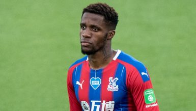 Crystal Palace forward Wilfried Zaha