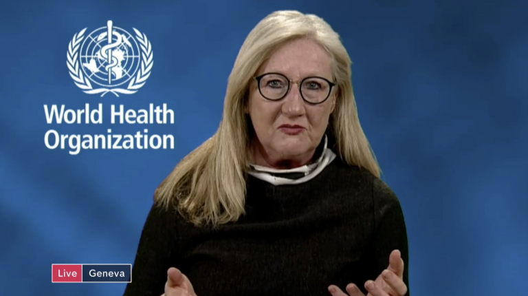 Dr. Margaret Harris, a WHO communications officer, at a virtual briefing in Geneva on coronavirus (COVID-19)