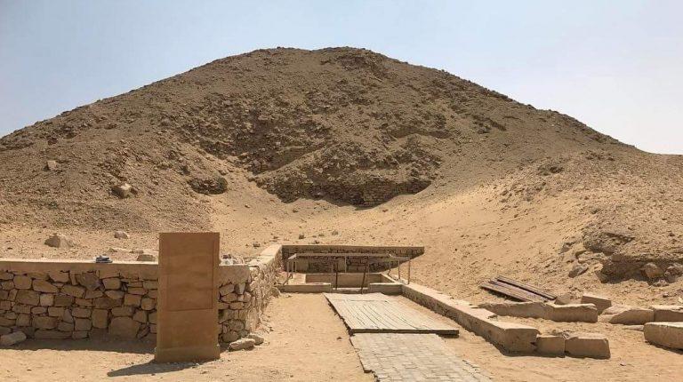 Saqqara Pyramids of Unas and Teti in Egypt