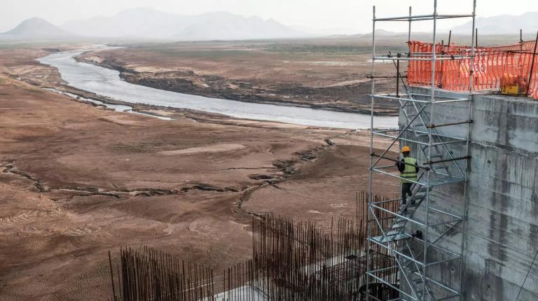Blue Nile dam known as Grand Ethiopian Renaissance Dam (GERD) on the Blue Nile River Egypt Ethiopia Sudan Daily News Egypt