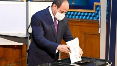 Egypt President Abdel Fattah Al Sisi cast his vote in Senate elections Daily News Egypt