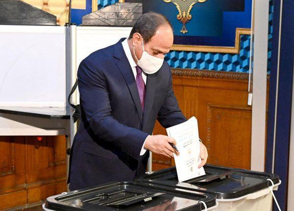 Egypt President Abdel Fattah Al Sisi cast his vote in Senate elections Daily News Egypt