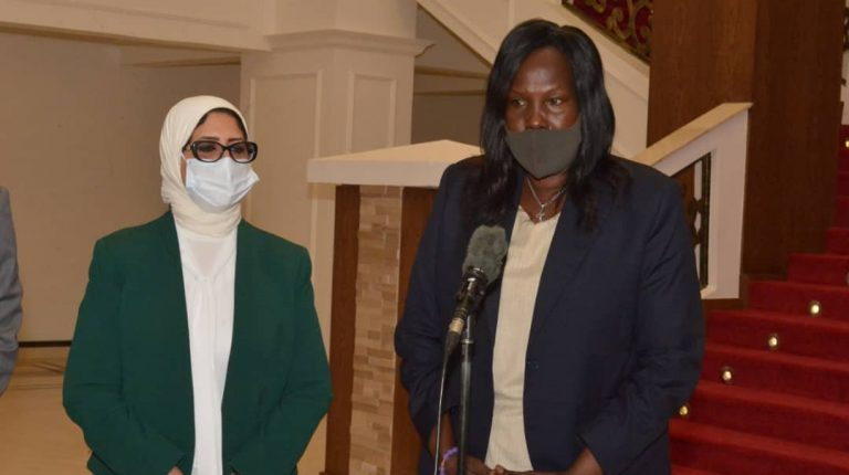 Egypt's Minister of Health, Hala Zayed,met her South Sudanese counterpart, Elizabeth Achuei, in the South Sudan capital Juba on Wednesday Daily News Egypt
