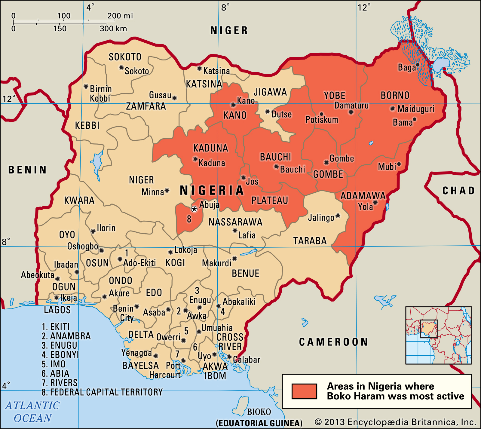 Boko Haram insurgency has had a devastating impact on the region. The group has been trying to establish an Islamist state in northeastern Nigeria