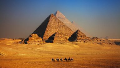 Pyramids of Giza in Egypt