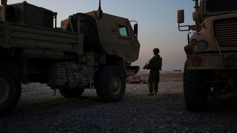 Roadside bomb hits U.S. troops' trucks in western Baghdad: Iraqi ministry official