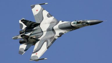 Russian Su-27 fighter jet