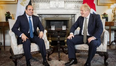 Egyptian President Abdel-Fattah Al-Sisi and British Prime Minister Boris Johnson