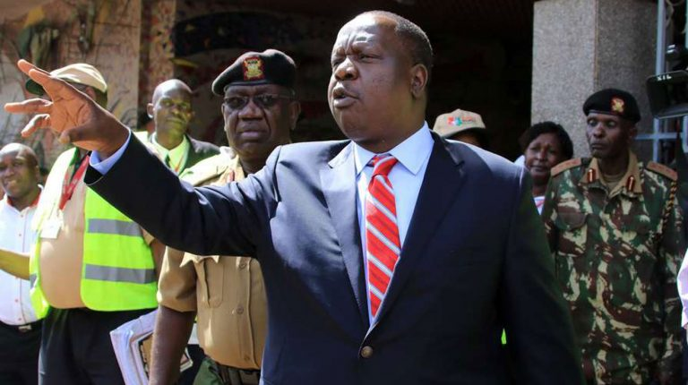 Kenya Interior cabinet secretary, Fred Matiang'i ordered the immediate freezing of funds and property attached to nine Kenyans, alleged to finance al-Shabab terror activities in the country and Somalia.