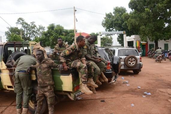 Mali's mutinous soldiers were seen in front of a military camp in Kati, near Bamako, Mali, on Aug. 19, 2020. (Xinhua/Habib Kouyate)