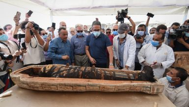 The Egyptian mission excavating at the Saqqara archaeological site has uncovered Egypt's largest archaeological discovery of 2020, according to Minister of Tourism and Antiquities Khaled Al-Anani.