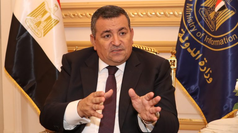 Egypt's Mnister of State for Information Osama Heikal during an interview with Daily News Egypt