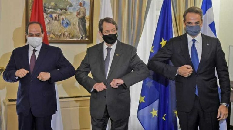 Egypt's President Abdel Fattah Al-Sisi participated, on Wednesday, in the eighth trilateral summit with Cyprus President Nicos Anastasiades and Greece Prime Minister Kyriakos Mitsotakis in Nicosia.