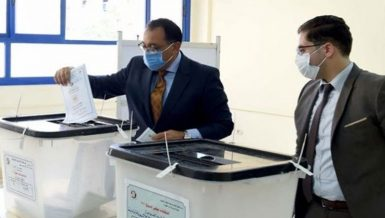 Egypt's Prime Minister Mostafa Madbouly cast his vote in the House of Representatives elections