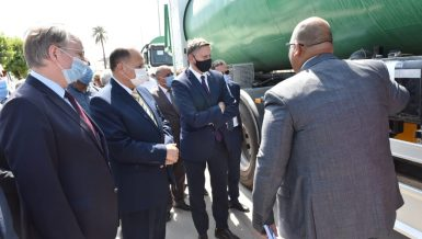 A German-EU delegation has visited the Solid Waste Management Unit in Assiut and a newly delivered waste collection fleet, as part of the National Solid Waste Management Programme (NSWMP).