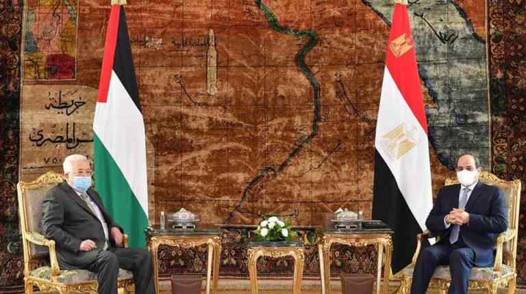عملية السلام في مقدمة القمة الرئاسية المصرية الفلسطينية في القاهرة