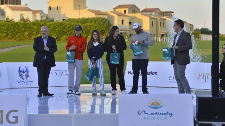 الشافعي ، جيونج ، سكريلو يفوزون بأهم الجوائز في بطولة مدينتي المفتوحة للجولف