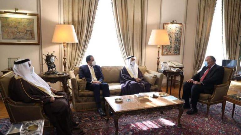 شكري ورئيس البرلمان العربي يبحثان الآلية العربية المشتركة في مكافحة الإرهاب