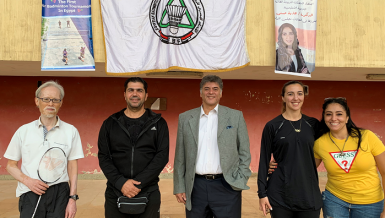 Japanese Ambassador to Egypt Masaki Noke has, on the invitation of the Egyptian Badminton Federation, attended the first Air Badminton Championship, which was held on 21 November at the Cairo International Stadium
