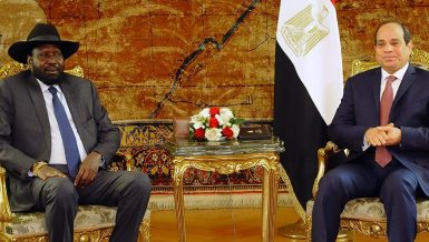 President of South Sudan Silva Kiir With President of Egypt Abdel Fatah Al Sisi
