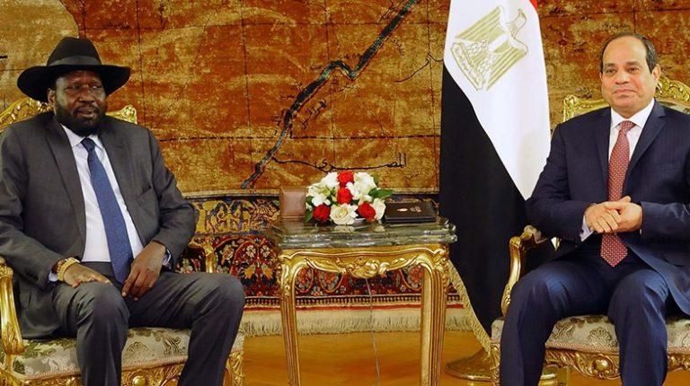 President of South Sudan Silva Kiir With President of Egypt Abdel Fatah Al Sisi
