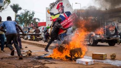 Kyagulanyi or Bobi Wine arrest on Wednesday in the eastern district of Luuka for allegedly flouting COVID-19 guidelines sparked sporadic protests in some parts of the east African country Uganda