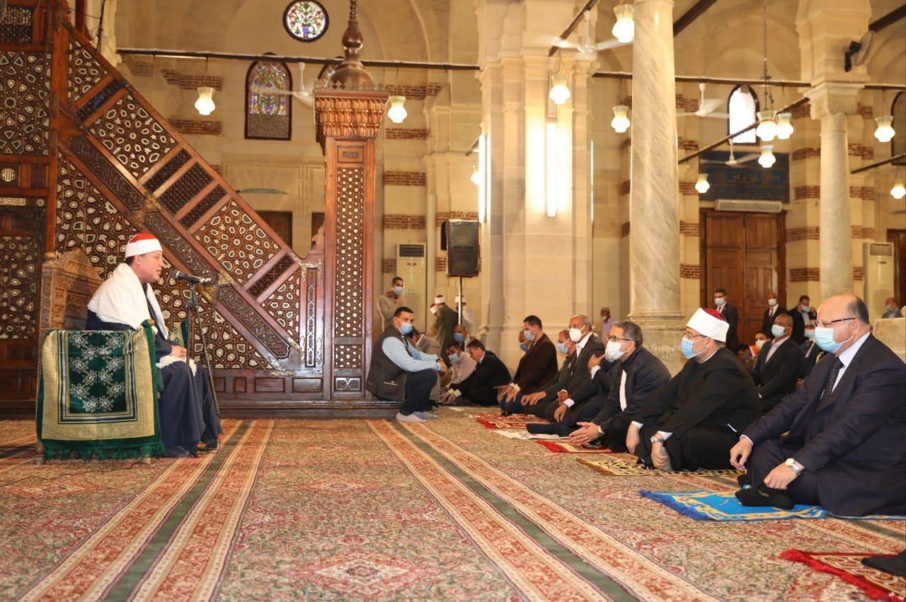 إعادة افتتاح مسجد الإمام الشافعي بعد ترميمه 13 مليون جنيه