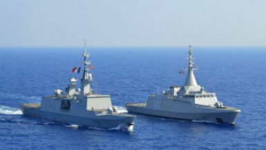 "Egyptian and French naval forces carried out, on Wednesday, joint maritime drills in the Mediterranean Sea, with the participation of the Egyptian frigate ""Taba"" and the French frigate ""Languedoc""."