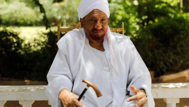 Sudan former Prime Minister and leader of the National Umma Party (NUP) Sadiq al-Mahdi
