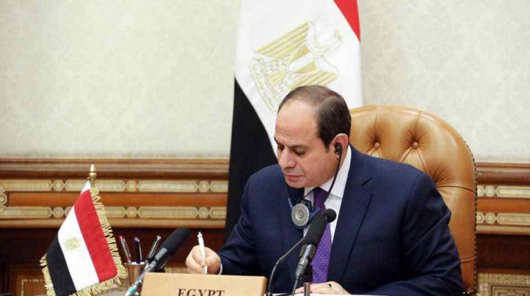 الرئيس السيسي يشارك في المؤتمر الدولي لدعم لبنان