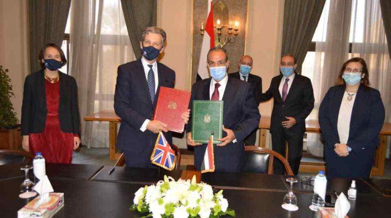 توقيع اتفاقية بين مصر والمملكة المتحدة لمواصلة المعاملة التجارية التفضيلية