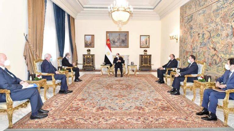 Egypt's President Abdel Fattah Al-Sisi on Saturday received Jordanian Foreign Affairs Minister Ayman Safady, and Palestinian Foreign Affairs Minister Riyad Al-Maliki.