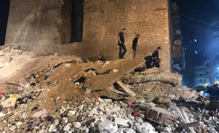 At least six persons were killed in a building collapse in Egypt's northern coastal city of Alexandria