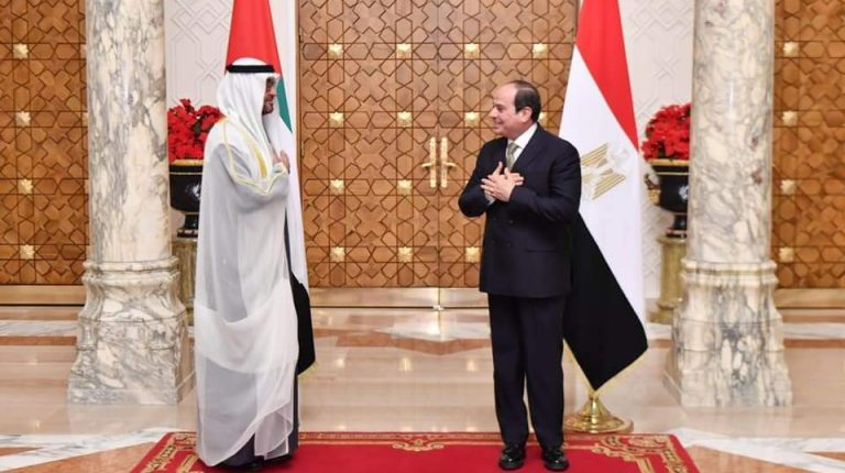Egypt's President Abdel Fattah Al-Sisi and Sheikh Mohammed Bin Zayed Al Nahyan, the Crown Prince of Abu Dhabi and the Deputy Supreme Commander of the UAE Armed Forces, agreed to continue joining forces to face the Middle East region's security threats.
