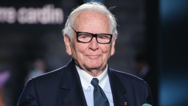 French fashion designer Pierre Cardin