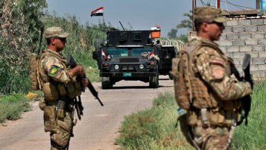 Iraqi security forces fighting ISIS in northern Iraq