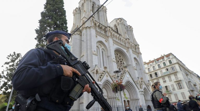 Church terror attack in the city of Nice in France