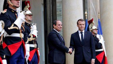 Egypt's President Abdel Fattah Al-Sisi with France President Emmanuel Macron. Daily News Egypt