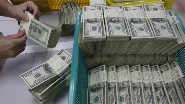 The US dollar fell modestly in late trading on Monday as market participants followed updates on a US coronavirus aid package. The dollar index, which measures the greenback against six major peers, was down 0.01 percent at 90.3400.