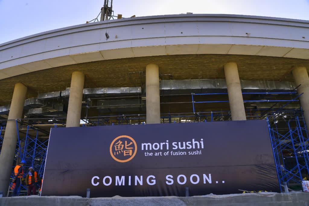 """Mori Sushi"", specializing in Japanese cuisine. It has 18 branches in Egypt and one branch in Dubai. Madinaty TMG"