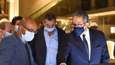 Minister of Tourism and Antiquities Khaled Al-Anani and Mohamed Amin, Adviser to the President for Financial Affairs, visited the Museum of Egypt's Capitals in the New Administrative Capital (NAC), to monitor the progress of work there.