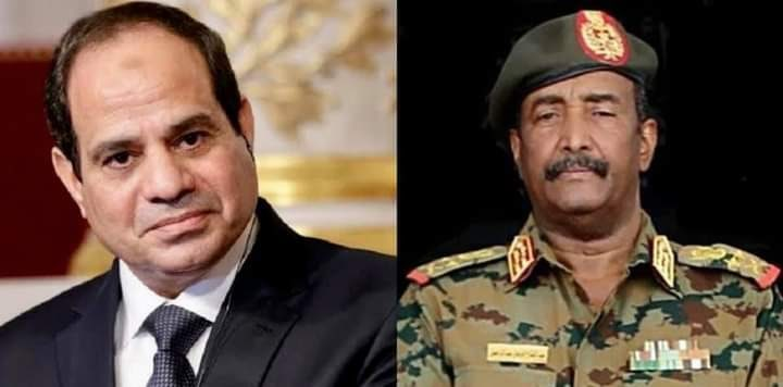 This came during a phone call between Egypt's President Abdel Fattah El-Sisi and Chairman of Sudan's Sovereign Council Abdel-Fattah Al-Burhan, a statement by the Egyptian presidency said.