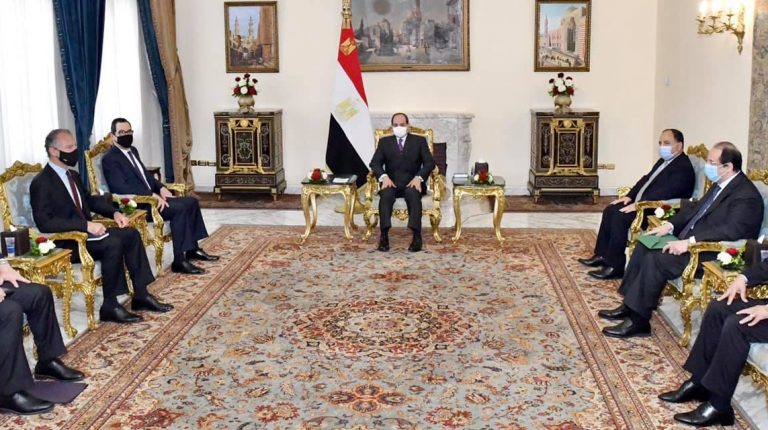 Egyptian President Abdel-Fattah Al-Sisi and US Secretary of Treasury Steven Terner Mnuchin discussed on Tuesday mutual cooperation and regional issues.