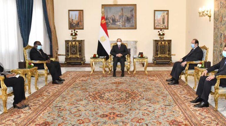 Egypt's President Abdel Fattah Al-Sisi met on Tuesday with Ambassador Annan Cato, Special Envoy of President of the Republic of Ghana, Nana Addo Dankwa Akufo-Addo.