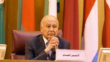 Arab League's Secretary-General Ahmed Aboul Gheit