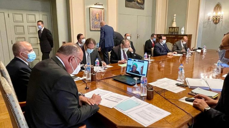 Egypt's Minister of Foreign Affairs Sameh Shoukry and Minister of Water Resources and Irrigation Mohamed Abdel Aaty participated, on Sunday, in a joint meeting regarding the Grand Ethiopian Renaissance Dam (GERD).