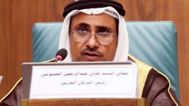 Arab Parliament Speaker Adel Abdul-Rahman Al-Asoumi