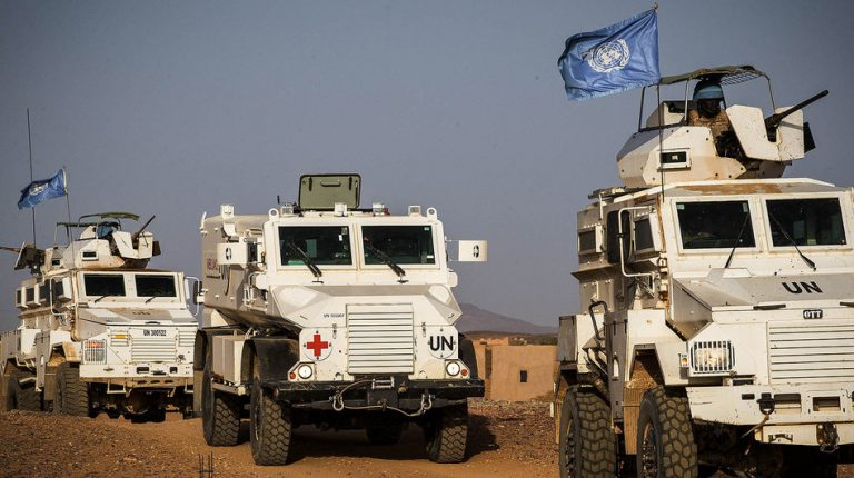 The UN Secretary-General António Guterres has strongly condemned another fatal attack carried out against a peacekeeping convoy that left a 'blue helmet' from Egypt dead, and another seriously injured on Friday. Credit: MINUSMA/Harandane Dicko