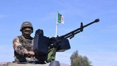 Four armed militants and two soldiers were killed on Saturday in a counterterrorism operation in northwest Algeria, the Defense Ministry said in a statement.